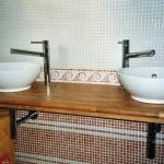 Salle de bains carrelage mosaïque