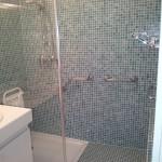 Coin douche pour personne à mobilité réduite