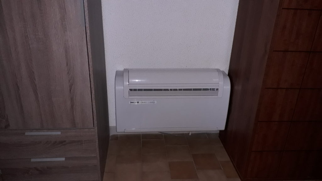 Installation de climatisation monobloc